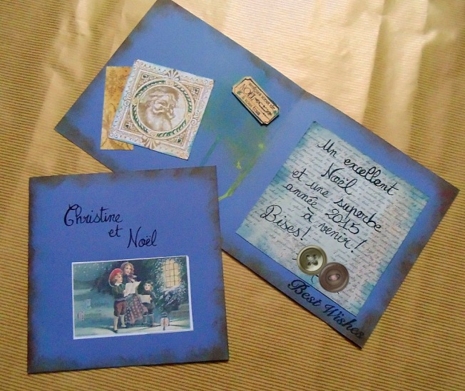Cartes de Noël général bleu