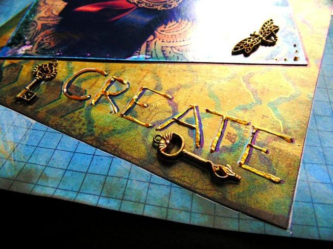 Challenge 57 fourmi créative doré ellana scrap