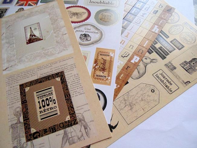 Haul Boit'à créer 11Haul Boit'à créer ellana scrap kit artémio oldies stickers
