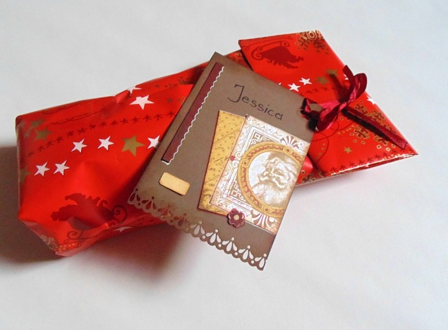 Tags Noël cadeau rouge
