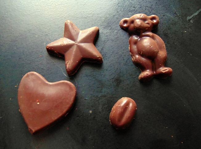ellana scrap ellanascrap cadeau chocolat coeur étoile café grain ours nounours
