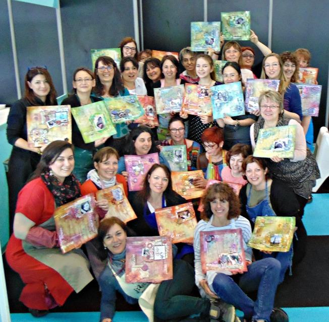 version scrap 2015 paris ellana scrap scrapbooking atelier finnabair colorology class classe