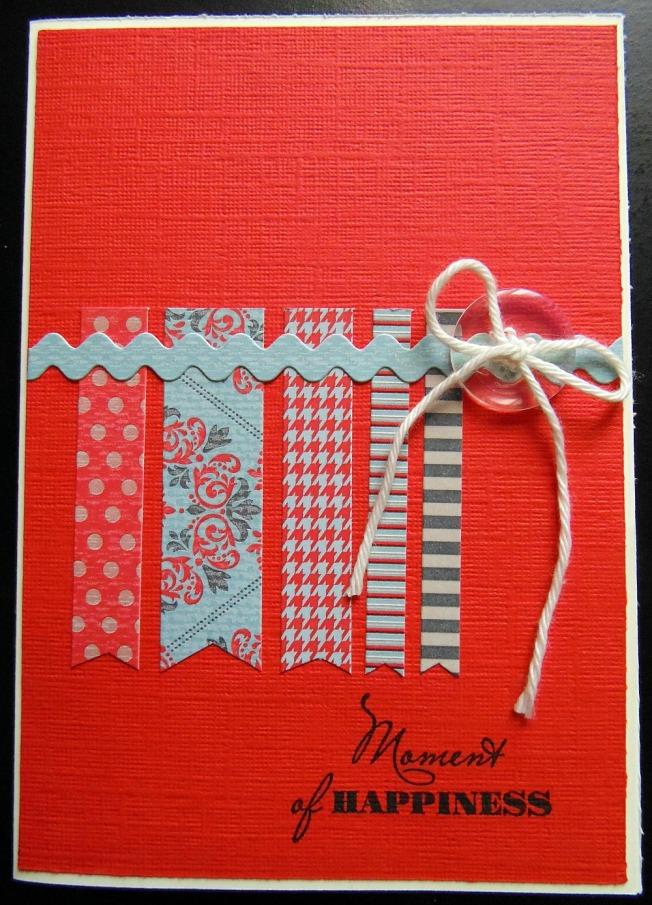 ellana scrap ellanascrap challenge carte scrapboo'kit défi rouge cardlift
