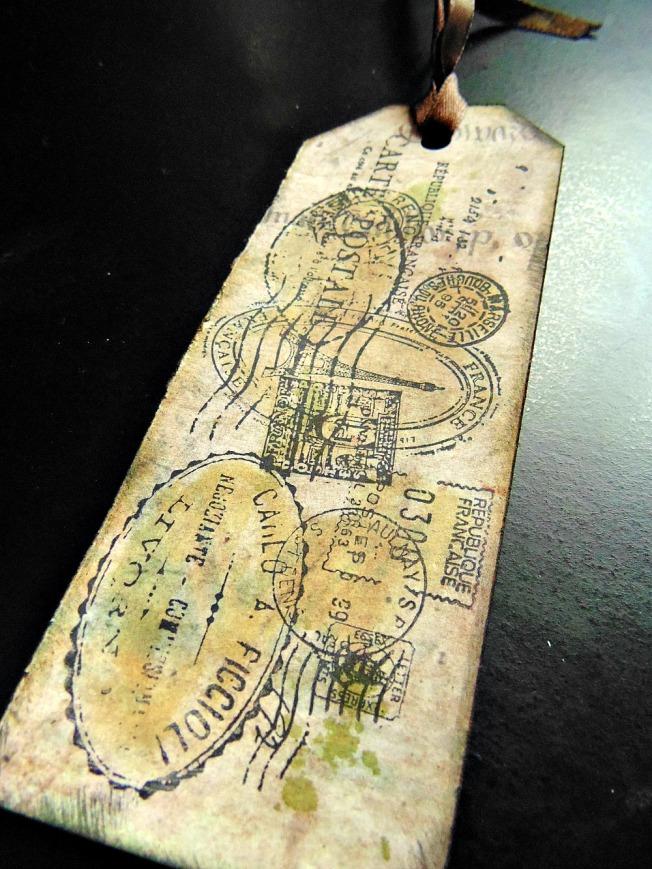 ellana scrap ellanascrap tag marque page carte postale timbre tampon