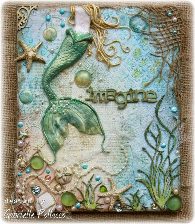 gabrielle pollacco canvas toile imagine mermaid sirène