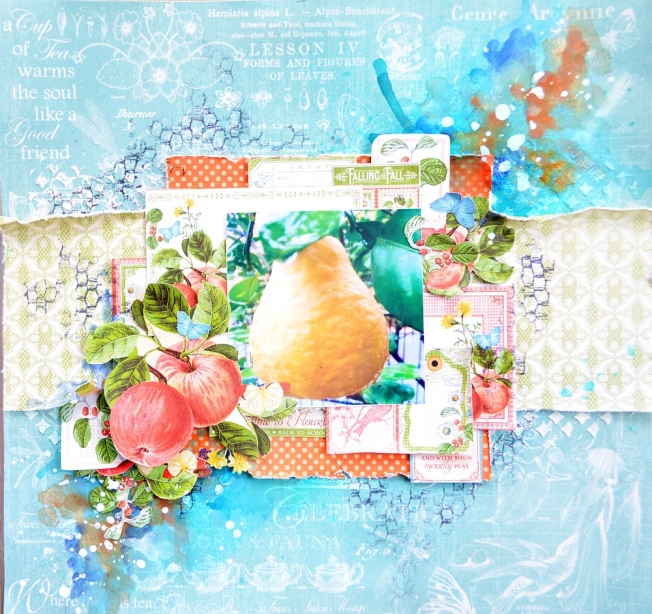 song li design layout blue bleu poire pear page