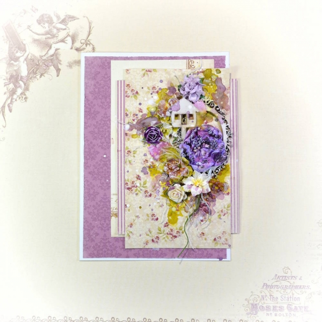 song li design card carte fleur flower