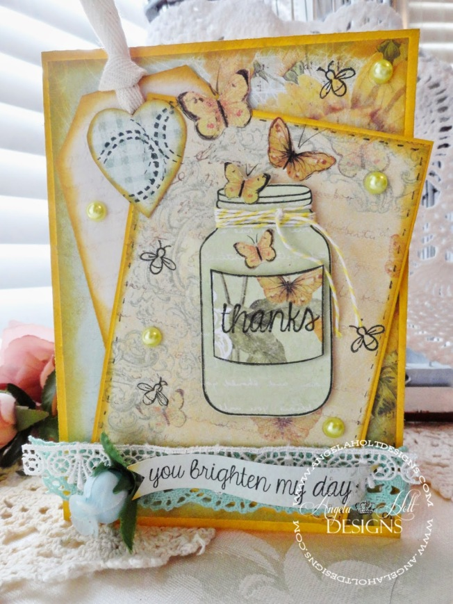 angela holt carte card shabby thanks merci