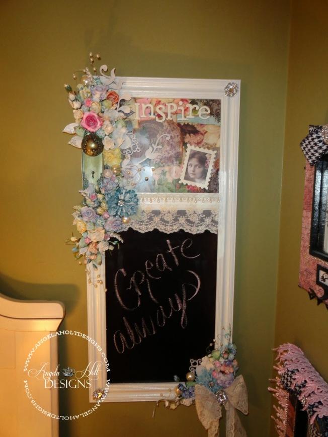 angela holt shabby chalkboard tableau