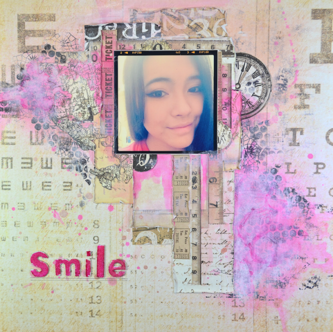 song li design layout page smile rose pink sourire
