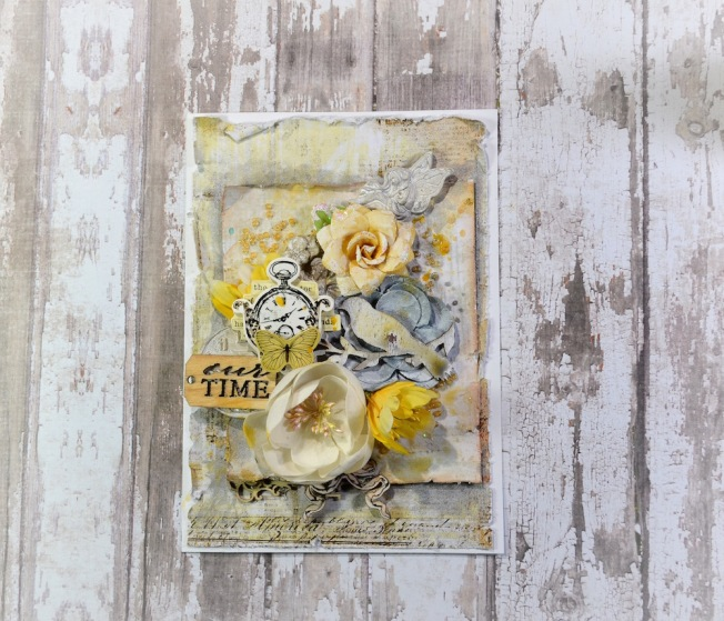 song li design card carte yellow jaune our time
