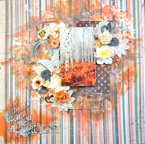 song li design layout page orange the beauty of nature