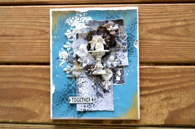 song li design card carte together blue bleu