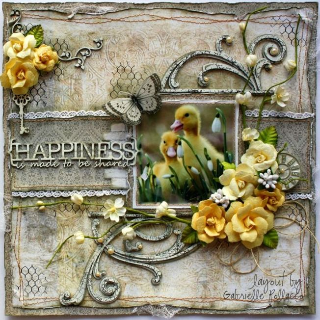 gabrielle pollacco layout page happiness is made to be shared duck canard