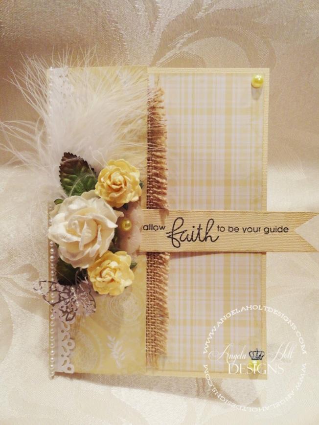 angela holt shabby paper smooches carte card fleur flower