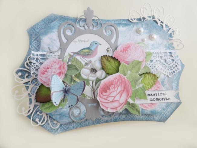 angela holt shabby spring card carte printemps oiseau