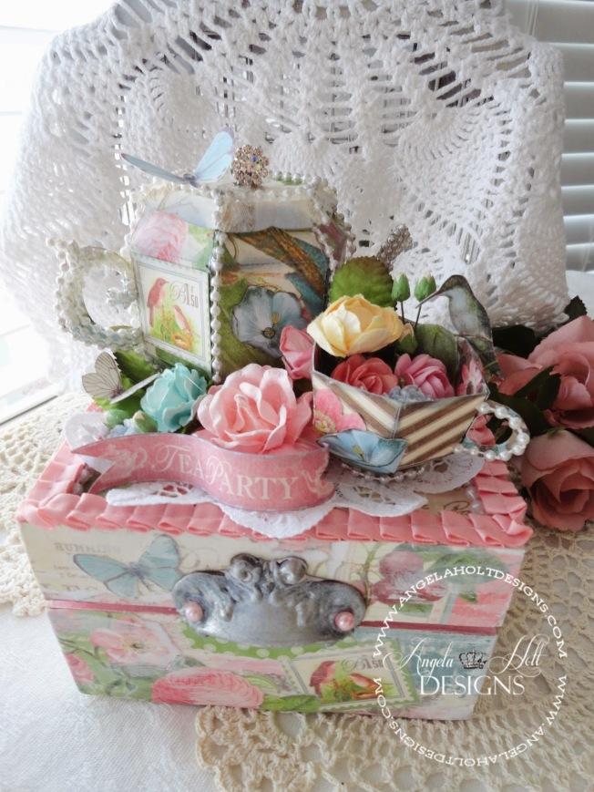 angela holt shabby tea box boite thé