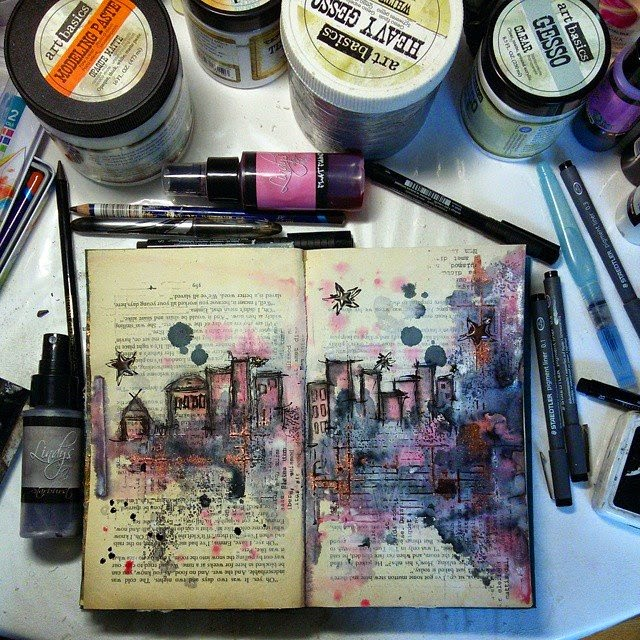 ellana scrap ellanascrap zoom sur marta lapowska maremi's small art journal art encre
