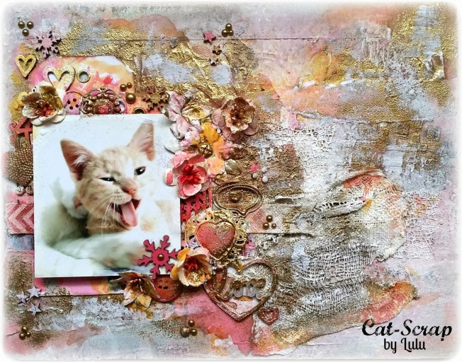 cat-scrap by lulu toile canvas cat chat