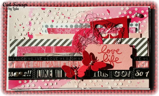 cat-scrap by lulu carte card love life rose