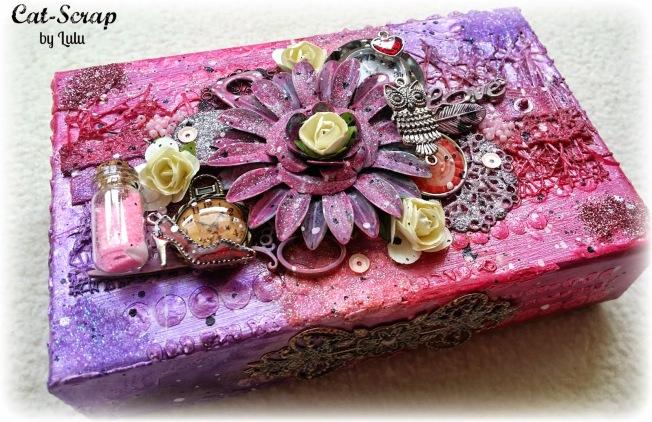cat-scrap by lulu customisation custom boite box violet rose purple pink