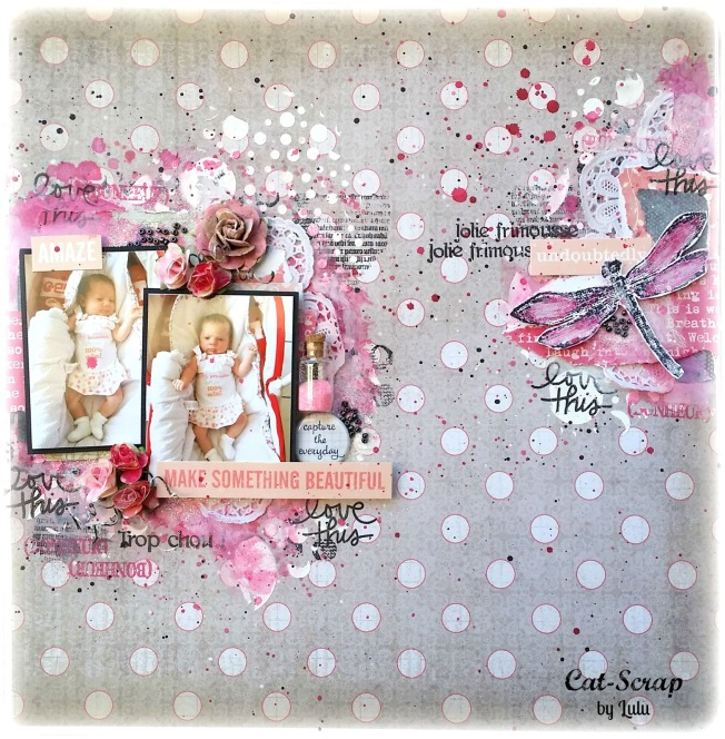 cat-scrap by lulu page layout love this make somehing beautiful