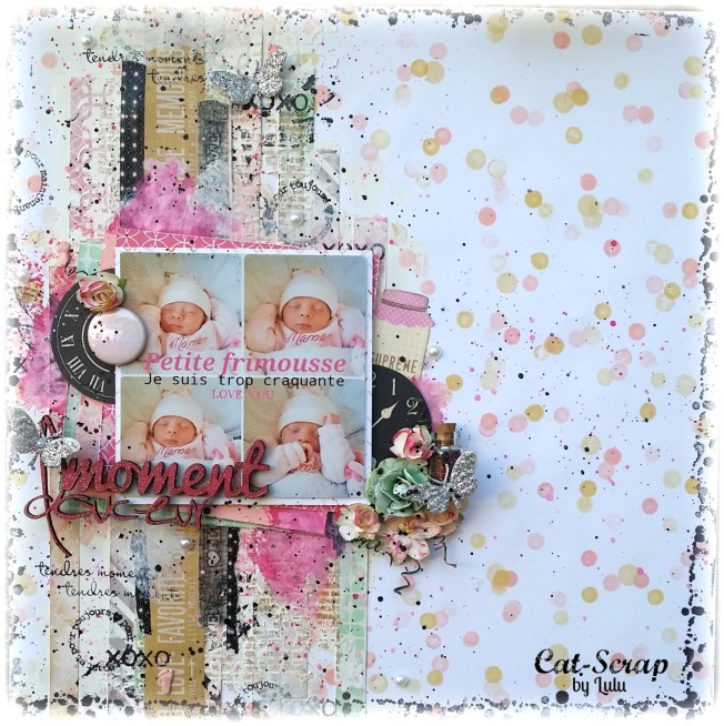 cat-scrap by lulu page layout petite frimousse moment douceur