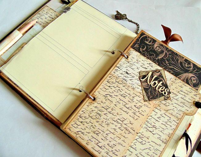 ellanascrap ellana scrap scrapbooking agenda 2015 intérieur notes