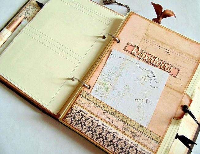 ellanascrap ellana scrap scrapbooking agenda 2015 intérieur répertoire
