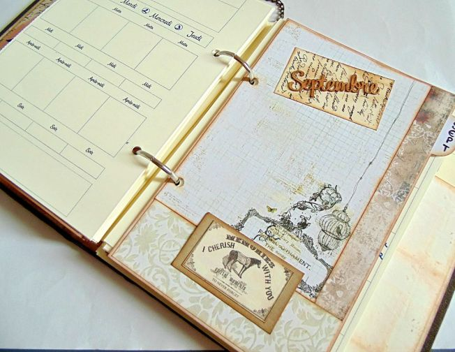 ellanascrap ellana scrap scrapbooking agenda 2015 intérieur septembre