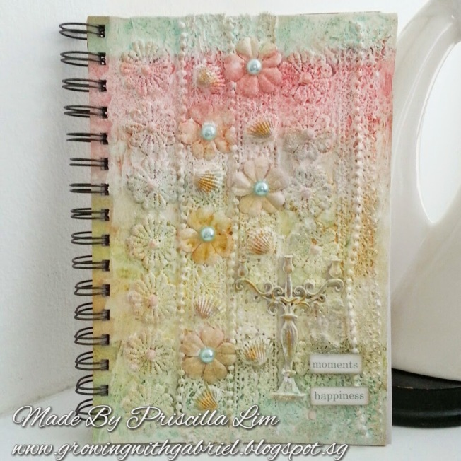 priscilla lim craft delights notebook carnet mixed media