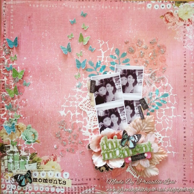 priscilla lim craft delights page layout quiet moments