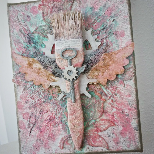 priscilla lim craft delights canvas toile mixed media