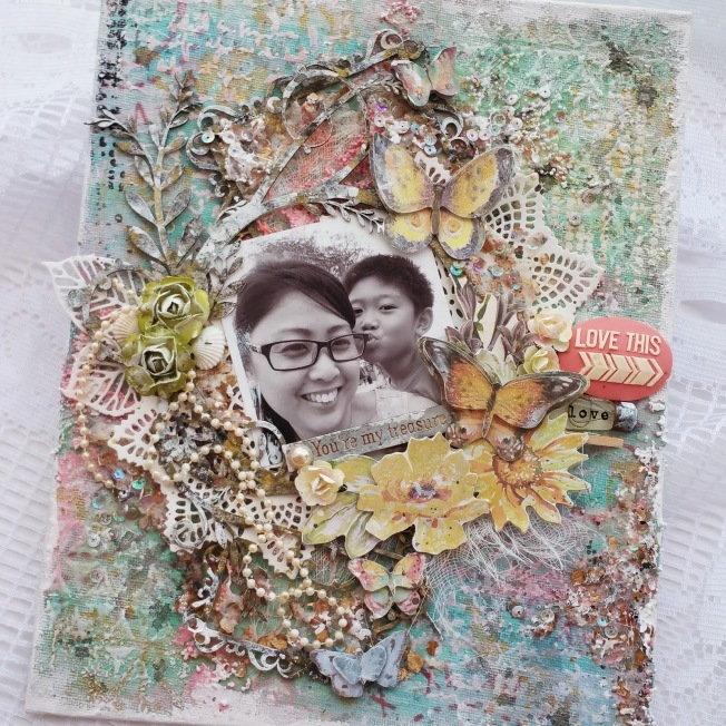 priscilla lim craft delights toile canvas love this you're my treasure