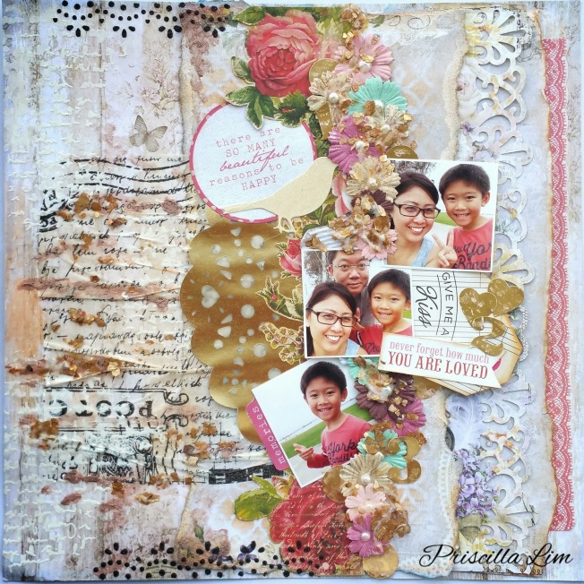 priscilla lim craft delights layout page you are loved