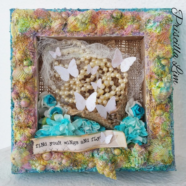 priscilla lim craft delights canvas toile find your wings and fly