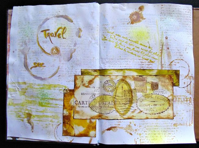 Journal Art travel & see ellana scrap ellanascrap scrapbooking large
