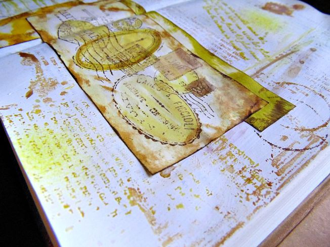 Journal Art travel & see ellana scrap ellanascrap scrapbooking détail