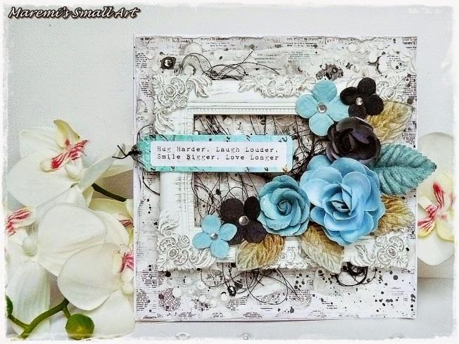 ellana scrap ellanascrap zoom sur marta lapowska maremi's small art cadre frame fleur flower