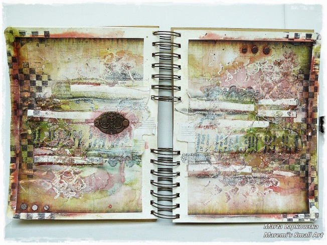 ellana scrap ellanascrap zoom sur marta lapowska maremi's small art journal art double page