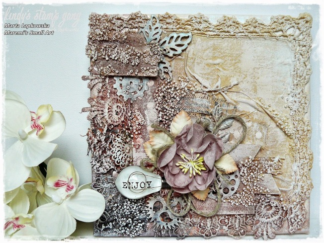 ellana scrap ellanascrap zoom sur marta lapowska maremi's small art card carte mixed media