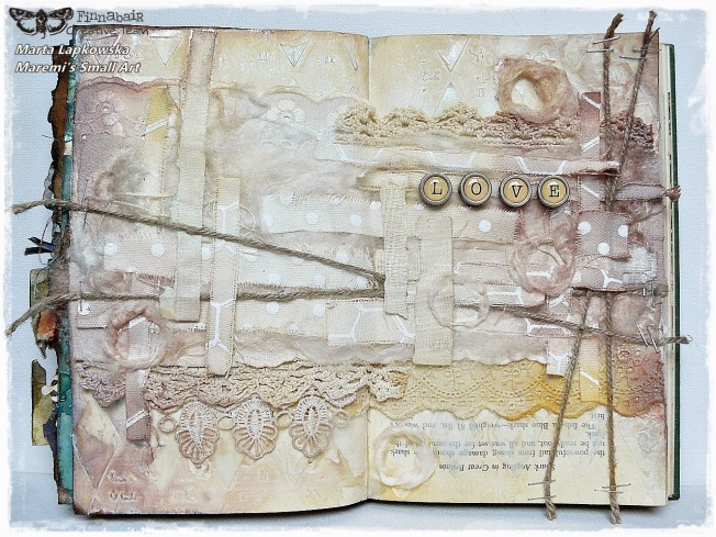 ellana scrap ellanascrap zoom sur marta lapowska maremi's small art mixed media journal art dentelle lace