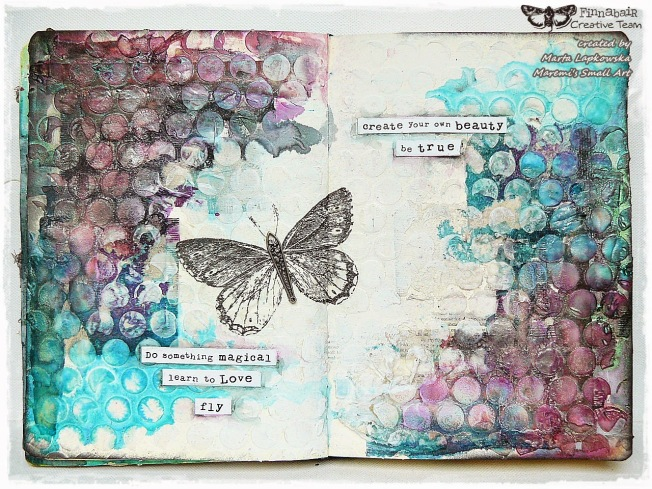 ellana scrap ellanascrap zoom sur marta lapowska maremi's small art journal art papillon butterfly