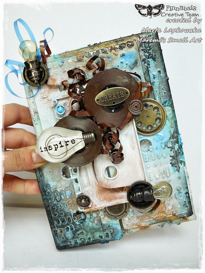 ellana scrap ellanascrap zoom sur marta lapowska maremi's small art canvas toile mixed media create inspire
