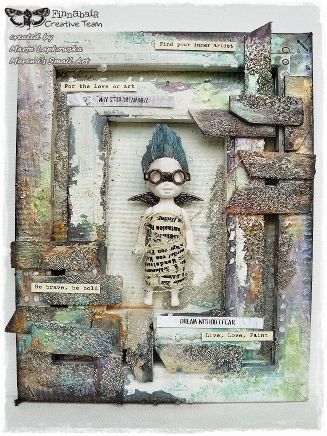 ellana scrap ellanascrap zoom sur marta lapowska maremi's small art toile canvas mixed media altered