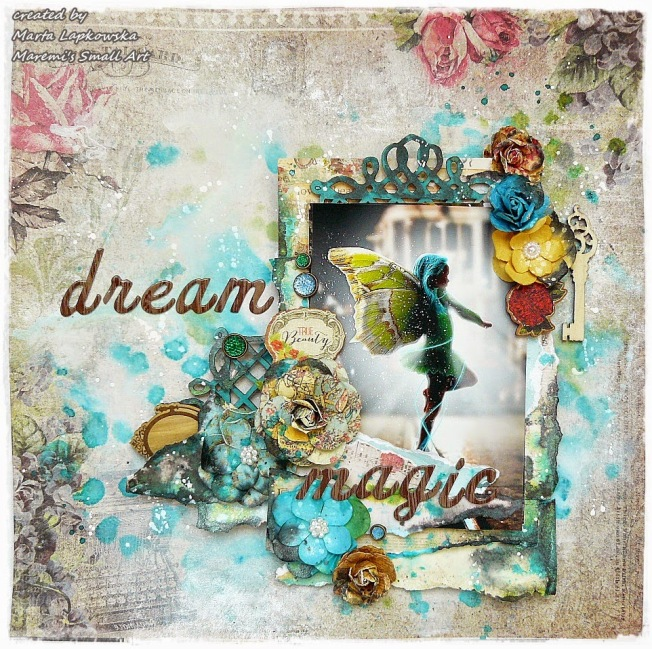 ellana scrap ellanascrap zoom sur marta lapowska maremi's small art layout page dream magic