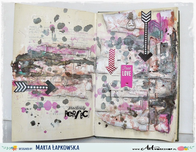 ellana scrap ellanascrap zoom sur marta lapowska maremi's small art journal art pratically perfect true love