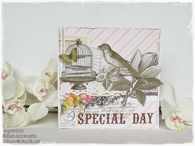 ellana scrap ellanascrap zoom sur marta lapowska maremi's small art card carte special day