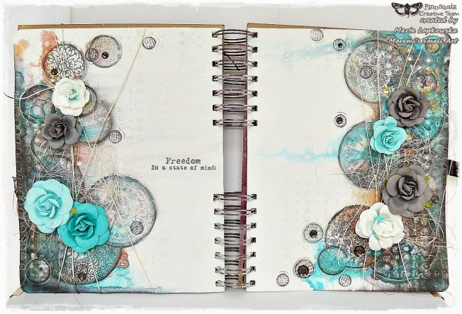 ellana scrap ellanascrap zoom sur marta lapowska maremi's small art journal art double page freedom