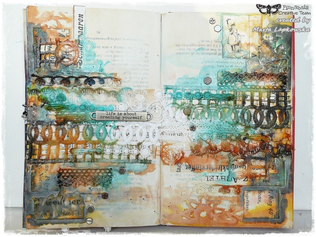 ellana scrap ellanascrap zoom sur marta lapowska maremi's small art journal art coloré colorful